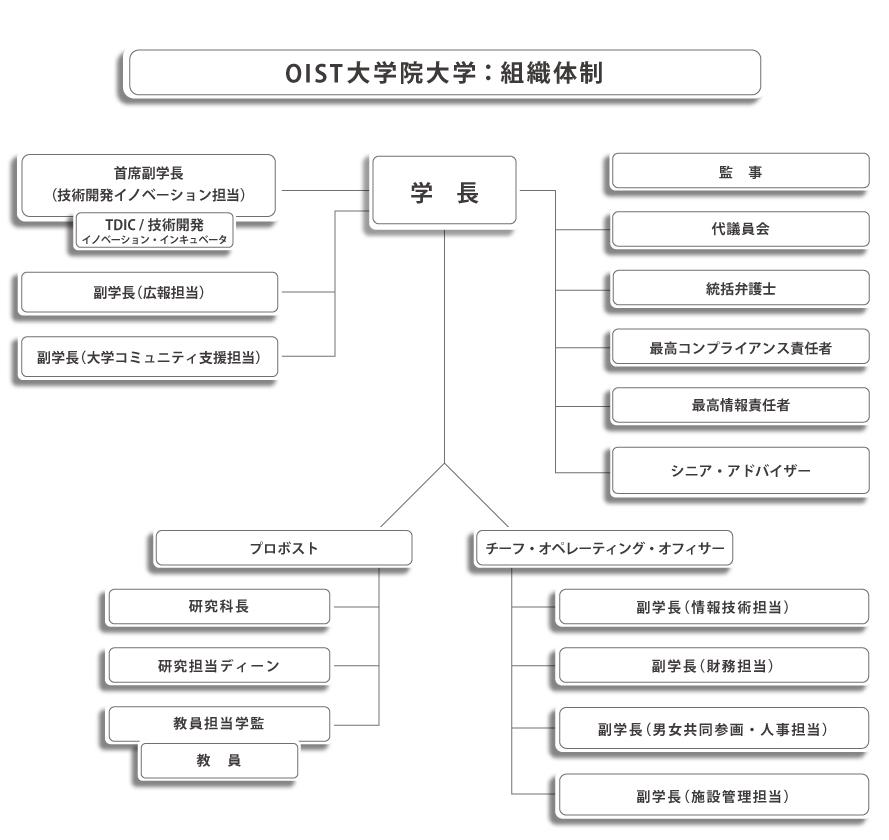 OIST Organizational Chart