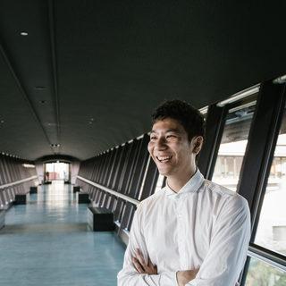 Graduate Student in Sky Walk
