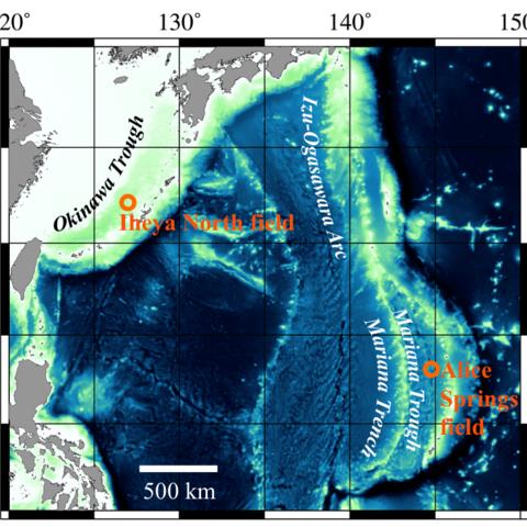 Map of Ocean Troughs